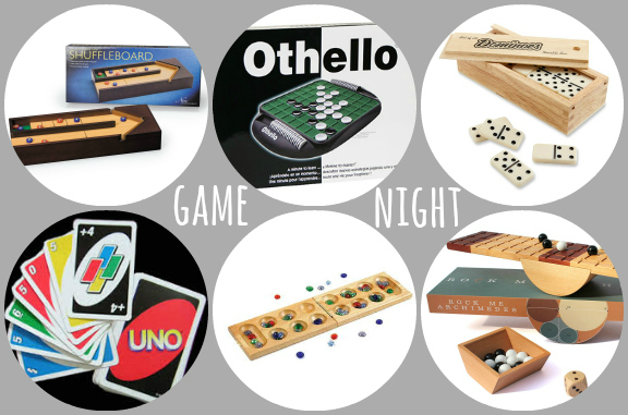 Game night collage wwords