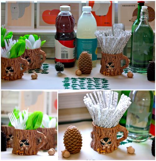 Raccoon mugs Collage