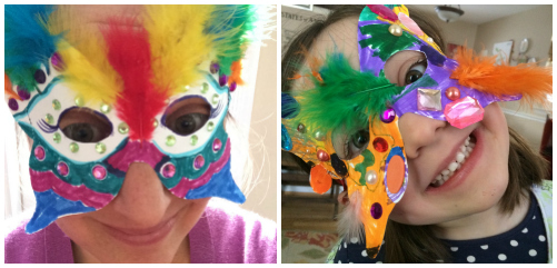 Mardis gras mask Collage