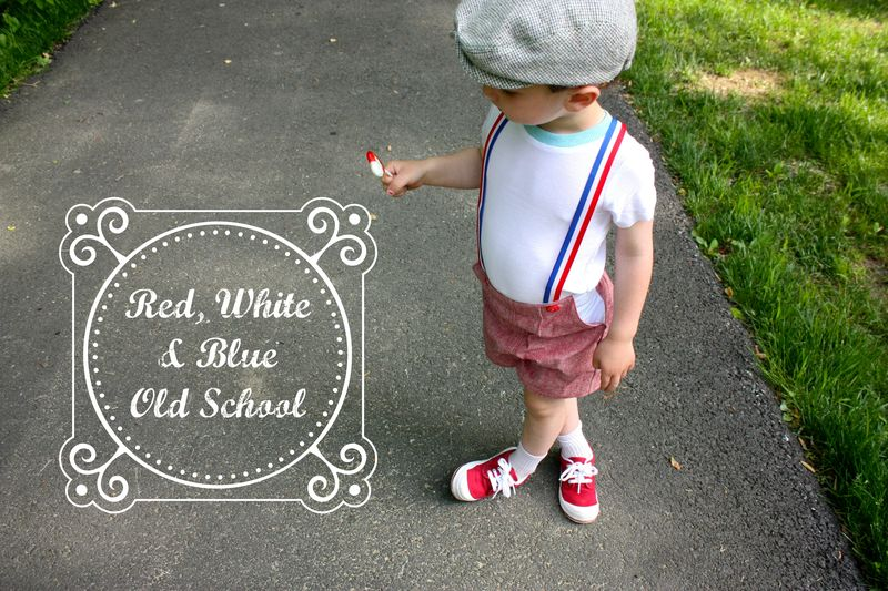 Red, white and blue old school