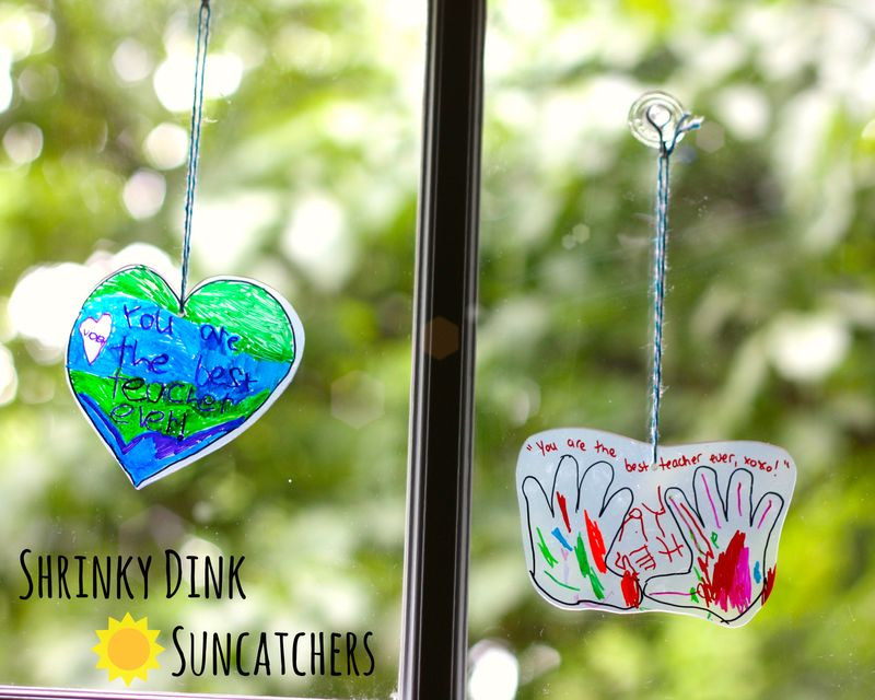 Shrinky dink suncatchers