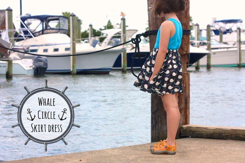 Whale circle skirt dress