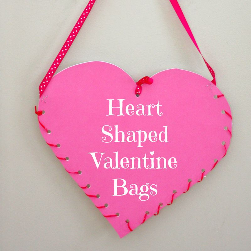 Heart shaped valentine bags