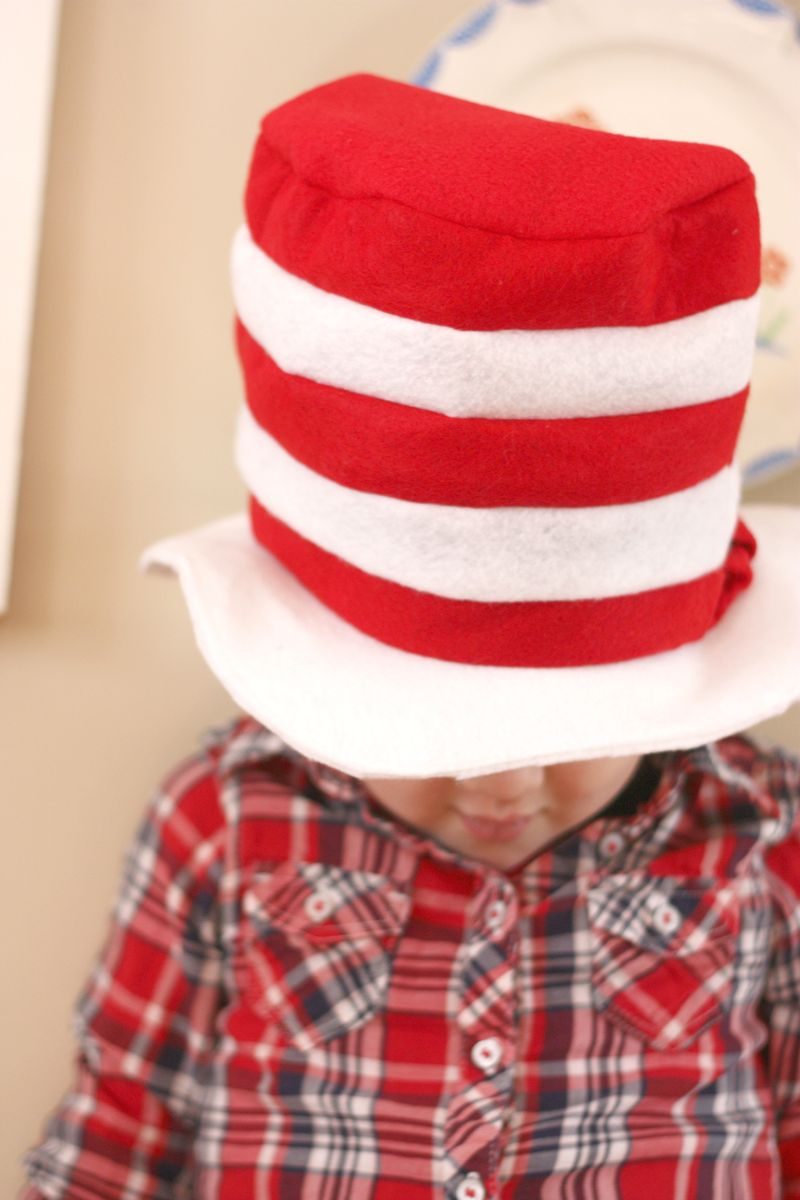 Hat on head