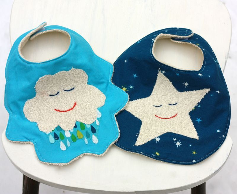 Star and cloud bibs