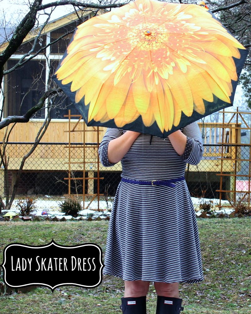 Sunflower lady skater dress