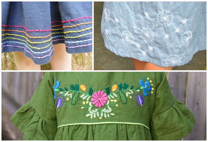 Embroidery embellishment Collage