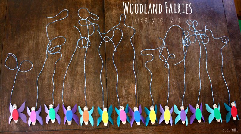 Woodland fairies ready to fly