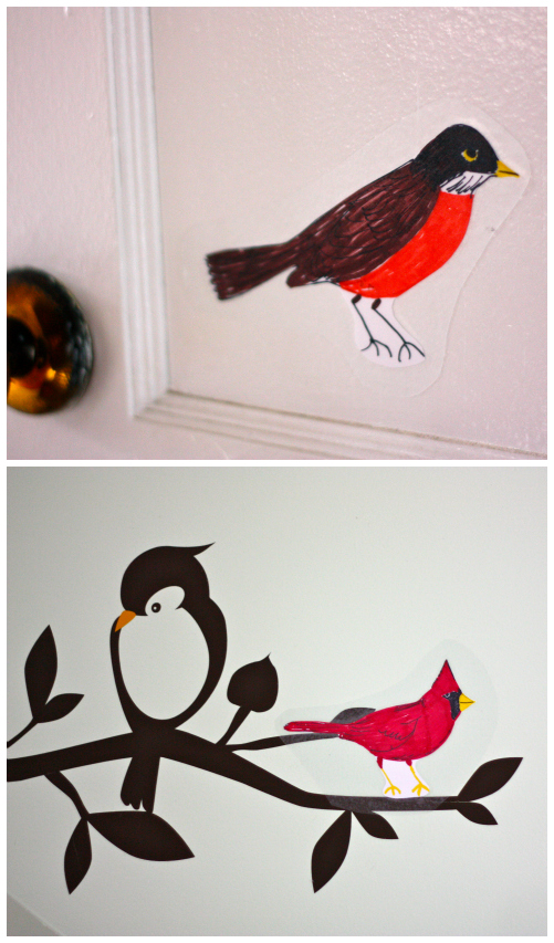 Bird decals Collage