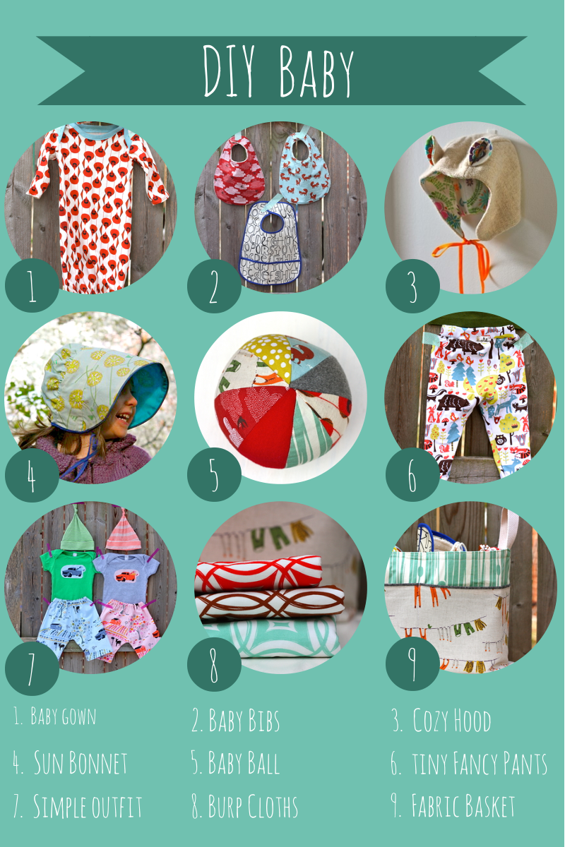 DIY Baby Gifts, a roundup of Sewing Patterns to sew for Baby ...