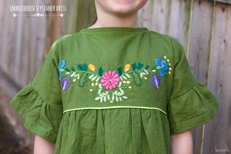 Embroidered september dress