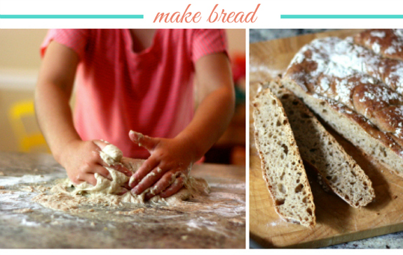 Make bread collage