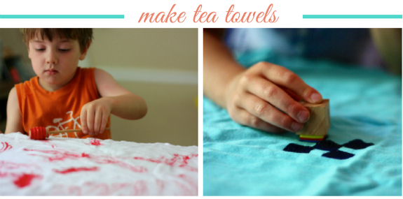 Make tea towels
