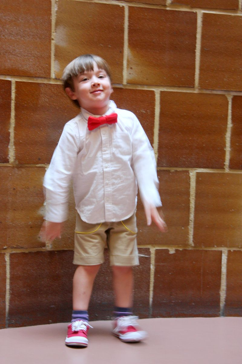 Parsely shorts and bow tie