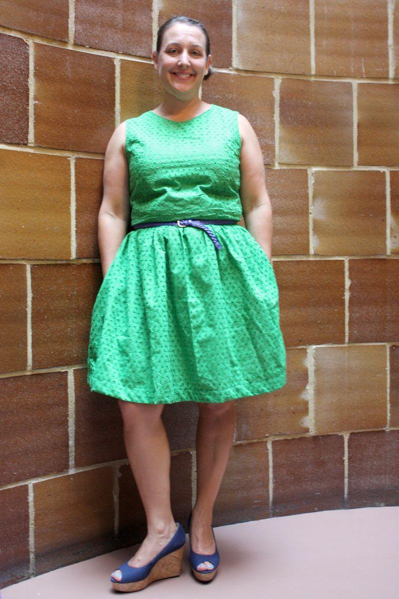 Green caroline dress