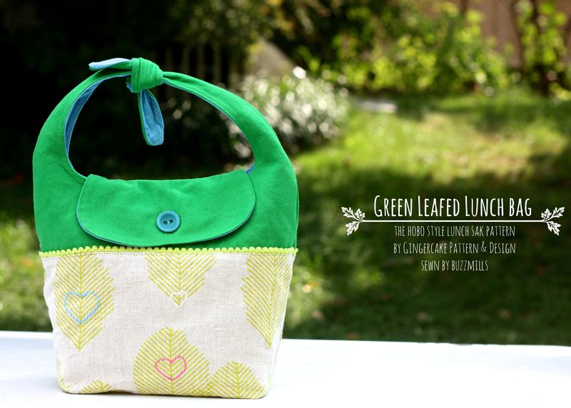 Green leafed lunch bag