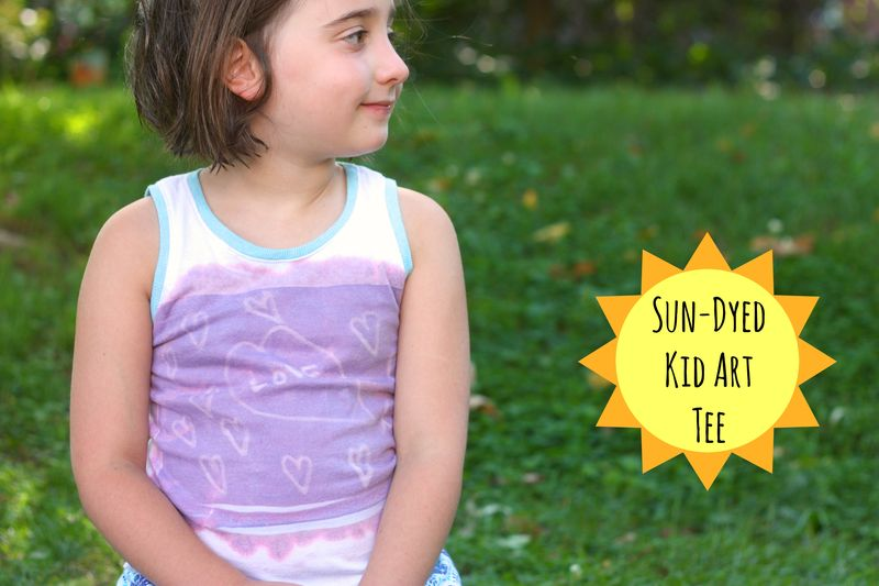Sun-dyed kid art tee