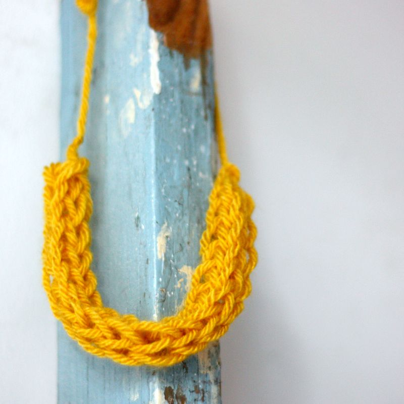 Yellow french knitting