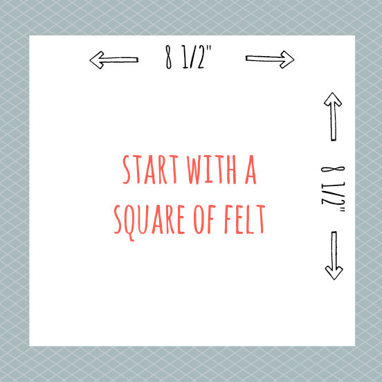 Square of felt