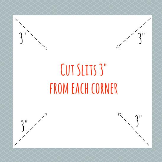 Cut slits