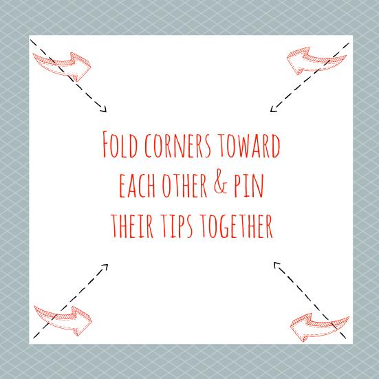 Fold corners in