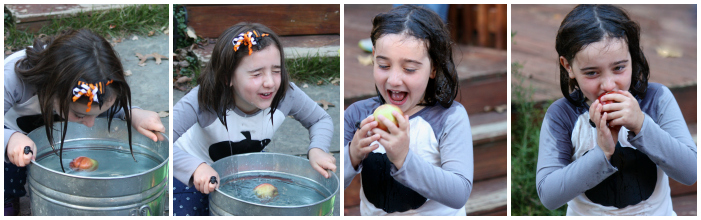 Apple bobbing Collage
