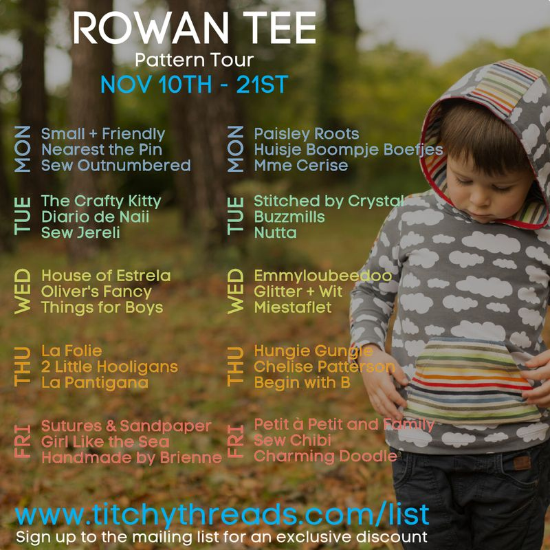 Rowan Tee Pattern Tour