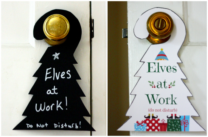 Elves at work Collage