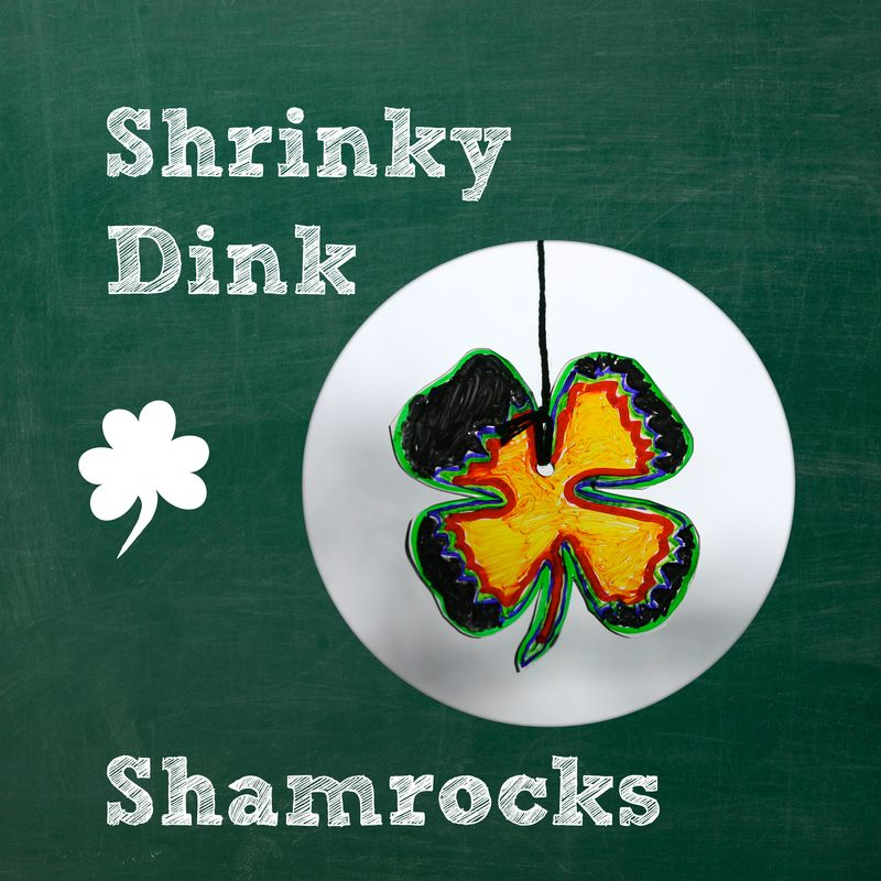 Shrinky dink shamrockspic
