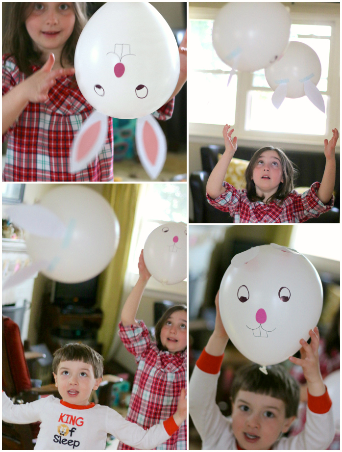 Bunny balloon Collage