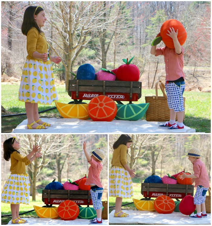Silly fruit Collage