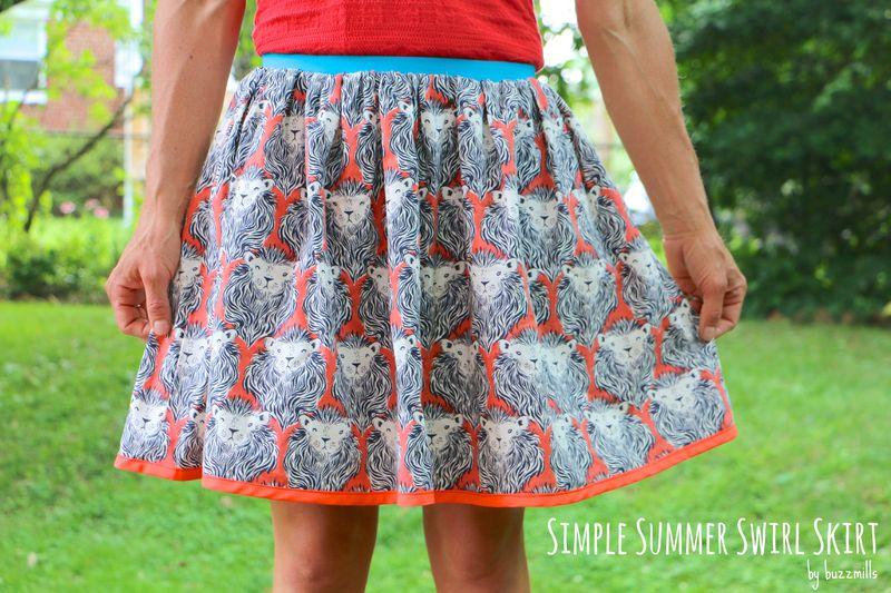 Simple summer swirl skirt
