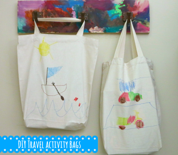 DIY travel activity bags