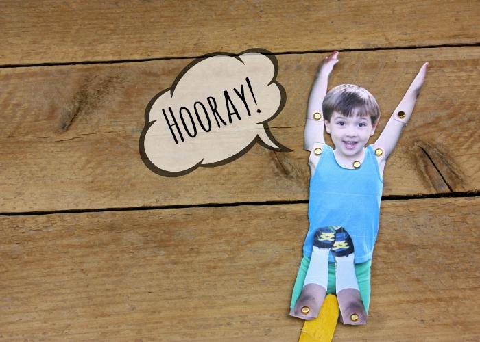 Puppet jumping hooray