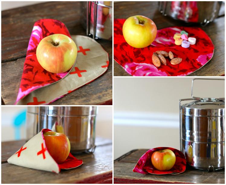 Heart napkin collage