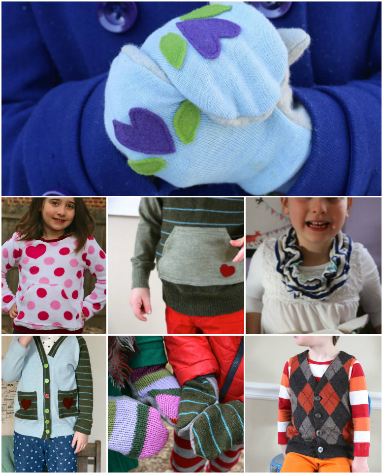 Upcycled clothes Collage