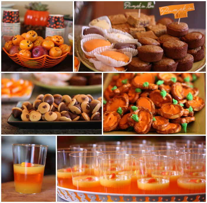 Pumpkin party food Collage