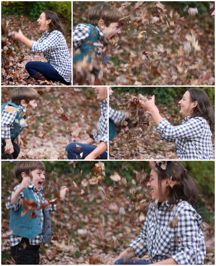 Leaf throwing Collage