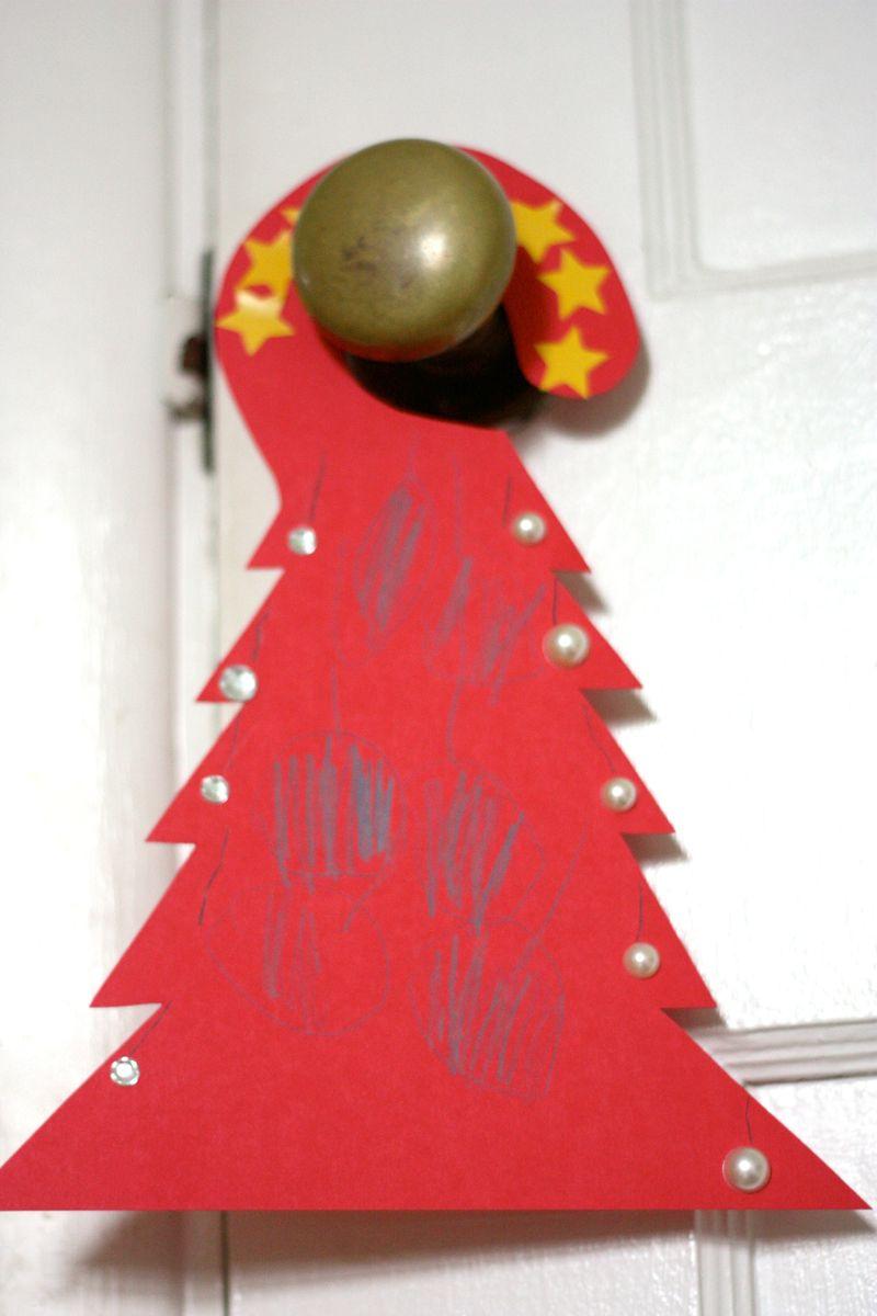 Red tree door hanger