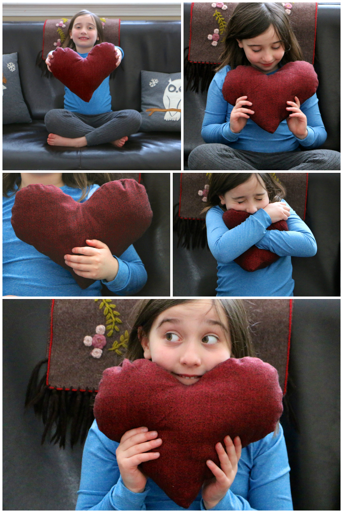 Heart pillow Collage