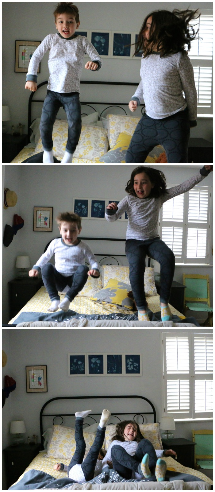Bed jumping Collage