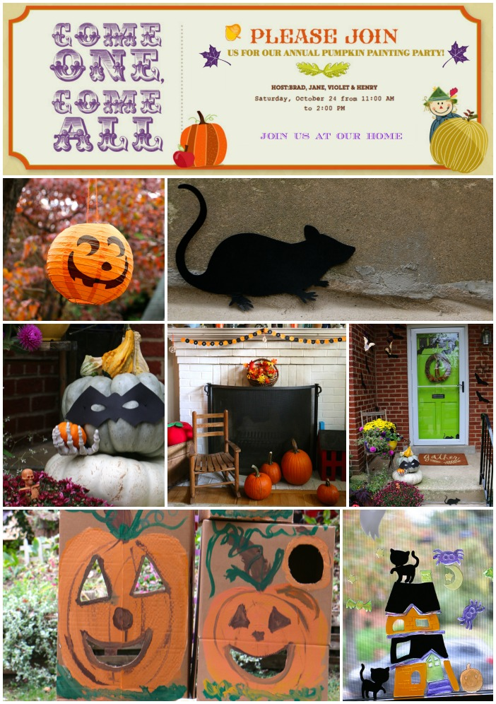 Pumpkin party decor Collage