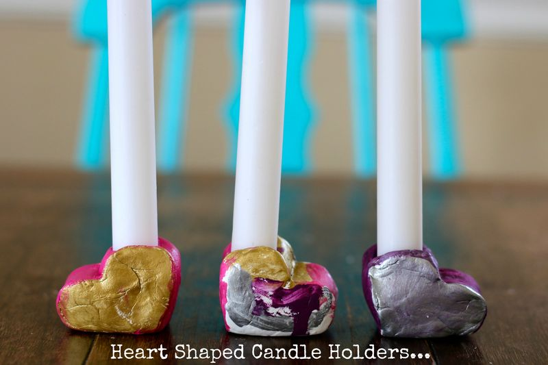 Heart shaped candle holders
