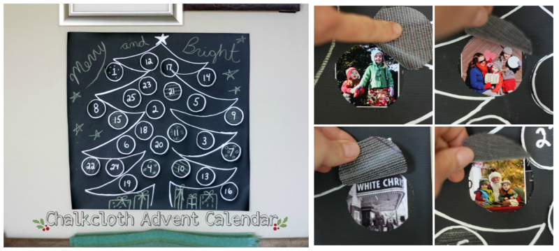 Chalkcloth advent calendar