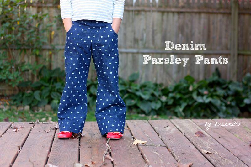 Demin parsley pants
