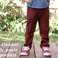 Red flannel hosh pants