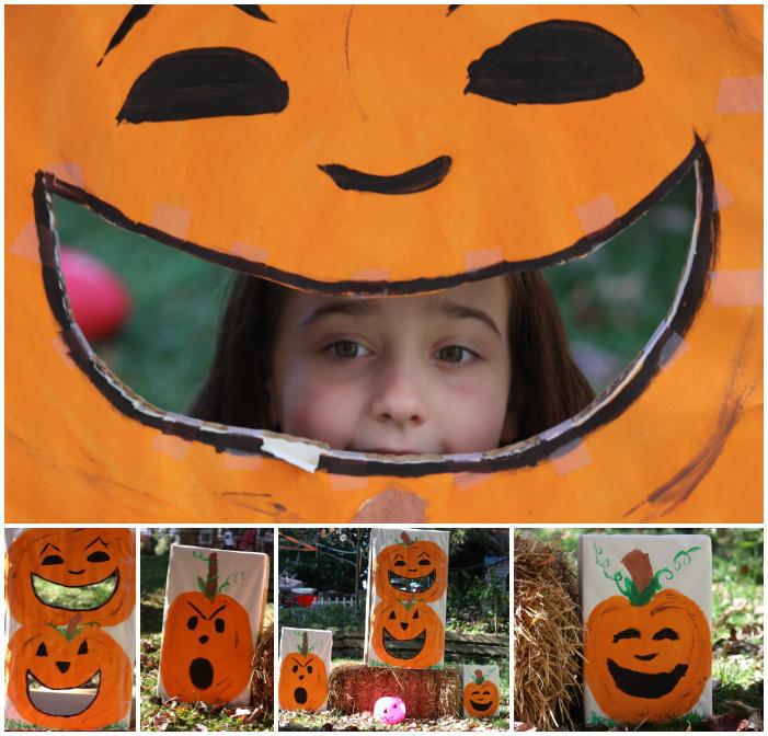 Pumpkin toss Collage