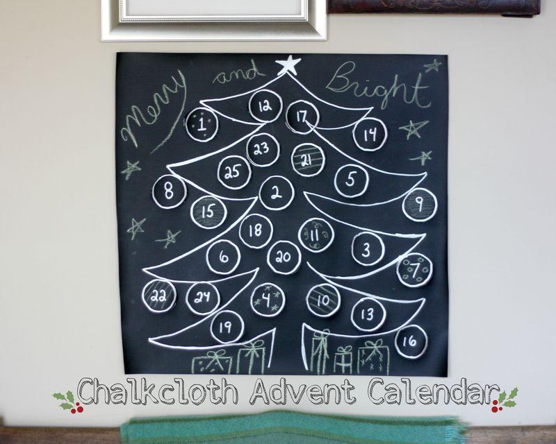 Chalkcloth advent calendar