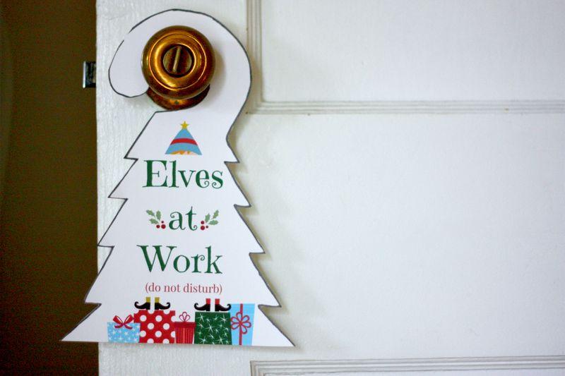 Elves at work printable