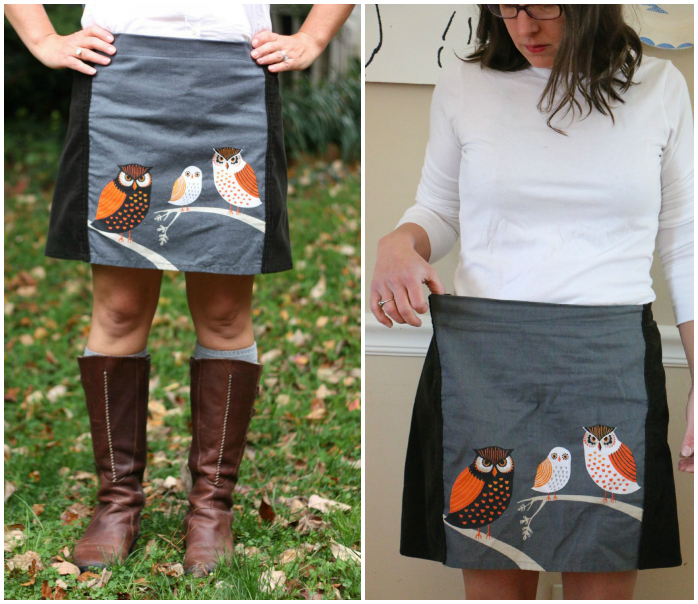 Owl skirt Collage